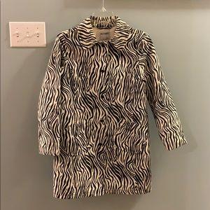 Old Navy Zebra print Trench Coat